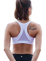 cheap -Women's Sports Bras Fast Dry Breathability Shockproof Top for Yoga Running/Jogging Exercise & Fitness Nylon Gym 2018 New Style White Black Red Blue