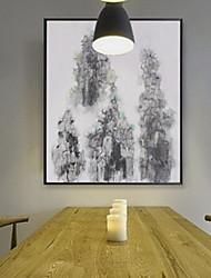 Недорогие -Романтика Иллюстрации Предметы искусства,Алюминиевый сплав материал с рамкой For Украшение дома Предметы искусства в рамках В помещении