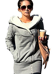 cheap -Women's Basic Slim Long Hoodie - Solid Colored, Pocket