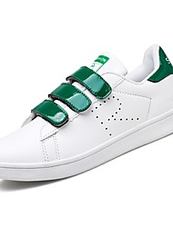 cheap -Men's Shoes PU Spring Fall Comfort Sneakers for Casual White/Green White/Silver Black/White Gold