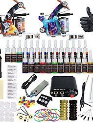 cheap -Solong Tattoo Complete Tattoo Kit 2 Pro Machines 28 Inks Power Supply Needle Grips