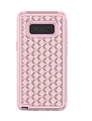 preiswerte -Hülle Für Samsung Galaxy Note 8 Stoßresistent Strass Rückseite Rüstung Hart TPU für Note 8