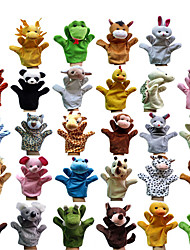 cheap -Finger Puppets Puppets Hand Puppet Toys Rabbit Pig Cute Animals Lovely Plush Fabric Plush Children's Pieces