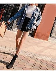 cheap -Women's Simple Denim Jacket Oversized Print