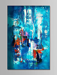 cheap -Hand-Painted Abstract Vertical, Comtemporary Simple Modern Canvas Oil Painting Home Decoration One Panel