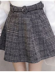 cheap -Women's Vintage A Line Skirts - Houndstooth