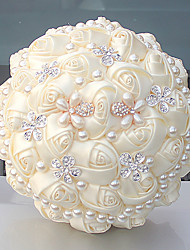 "cheap -Wedding Flowers Bouquets Wedding Bead Crystal/ Rhinestone Satin 9.84""(Approx.25cm)"