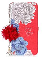 Недорогие -Кейс для Назначение Huawei P8 Lite (2017) P10 Lite Бумажник для карт со стендом Флип С узором Своими руками Цветы Твердый для