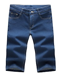 cheap -Men's Simple Shorts Jeans Pants - Solid Colored