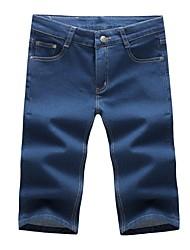 abordables -Hombre Simple Shorts Vaqueros Pantalones - Un Color