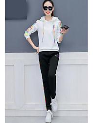 economico -Per donna Felpa con cappuccio Ricamato Pantalone