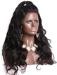 levne -Přírodní vlasy Brazilské vlasy Krajka paruka Vlnitá Vlnité Dětské vlasy Krajka vpředu Nezpracované 100% Panna Přírodní vlasová linie 130%