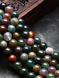 cheap -DIY Jewelry 48 pcs Beads Agate Rainbow Round U Shape Bead 0.8 DIY Bracelet Necklace