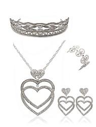 cheap -Women's Tiaras Bridal Jewelry Sets Rhinestone Fashion European Wedding Party Imitation Diamond Alloy Geometric Heart Butterfly Body