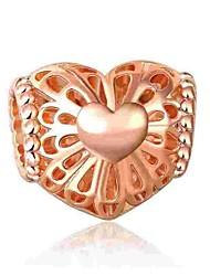 baratos -Jóias DIY 1 pçs Contas Liga Dourado Coração Bead 0.5 cm faça você mesmo Colar Pulseiras