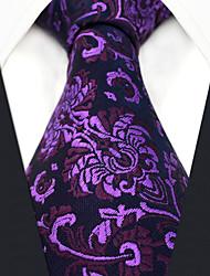 Недорогие -мужской партийный рабочий районный галстук - цветочный цветной жаккард