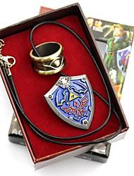 preiswerte -Mehre Accessoires Inspiriert von The Legend of Zelda Ao Anime Cosplay Accessoires 1 Ring 1 Brosche