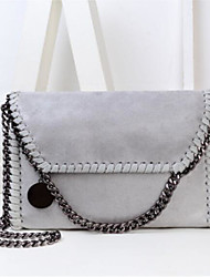 cheap -Women's Bags PU Shoulder Bag Buttons Zipper for Casual All Seasons Black Silver Red Gray Almond