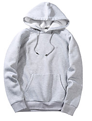 cheap -Men's Sports Sports & Outdoors Long Sleeves Hoodie - Solid Colored Hooded