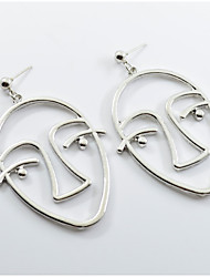 cheap -Women's Drop Earrings - Face Hip-Hop, Oversized Gold / Silver For Party / Daily