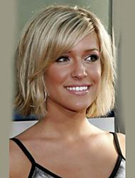 cheap -Human Hair Capless Wigs Human Hair Straight Bob Haircut Side Part Natural Hairline Medium Machine Made Wig Women's