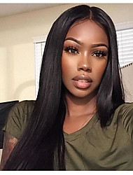 abordables -Non Traités Dentelle frontale Perruque Cheveux Brésiliens 130% Densité Non traité Perruque afro-américaine Ligne de Cheveux Naturelle Long