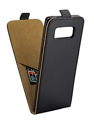 preiswerte -Hülle Für Samsung Galaxy Note 8 Kreditkartenfächer mit Halterung Flipbare Hülle Ganzkörper-Gehäuse Volltonfarbe Hart PU-Leder für Note 8