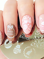 cheap -Easter Bunny Egg Nail Art Stamping Plates Image Template BORN PRETTY Nail Stamp Plate BP60