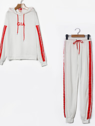 cheap -Women's Hoodie - Letter Pant Hooded