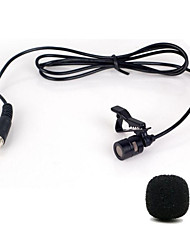 cheap -Mini Portable Clip-on Lapel Lavalier Hands-free 3.5mm Jack Condenser Wired Microphone Mic