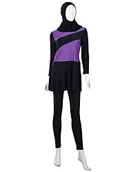 cheap -Fashion Burkini Swimwear Women's Festival / Holiday Halloween Costumes Orange Gray Purple Solid Colored Ethnic