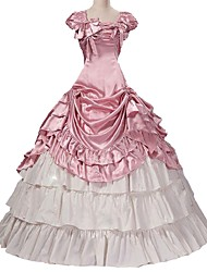 cheap -Rococo / Victorian Costume Women's Outfits Pink Vintage Cosplay Taffeta Short Sleeve Puff / Balloon Sleeve Halloween Costumes