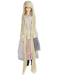 economico -Parrucche sintetiche Kinky liscia Senza tappo Per donna Biondo parrucca Doll Molto lungo