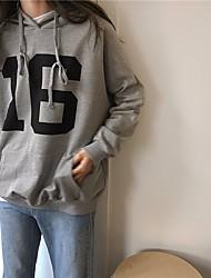 女性用 スポーツ 祝日 スウェットシャツ ソリッド プリント ラウンドネック 伸縮性あり ポリエステル エラステイン 長袖 春