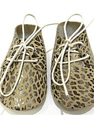 cheap -Baby Shoes Cowhide Spring Fall Comfort First Walkers Flats for Casual Leopard