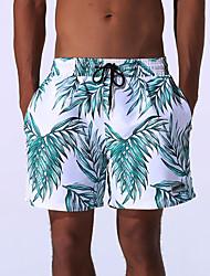 cheap -Men's Sexy Print Fashion Bottoms Swimwear, Polyester Nylon Green Red