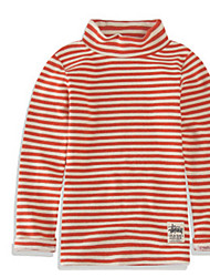 cheap -Girls' Striped Tee, Others Spring Long Sleeves Simple Blue Green Orange Red Navy Blue