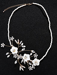 cheap -Women's Crystal Jewelry Set - Imitation Pearl Floral / Botanicals, Flower European Include Chain Necklace Gold For Wedding / Party / Halloween