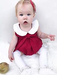 abordables -bébé Fille simple Couleur Pleine Sans Manches Coton / Fibre de bambou Le maillot de corps / Bébé