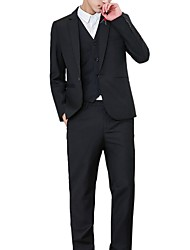cheap -Men's Plus Size Suits-Solid Colored / Long Sleeve / Work