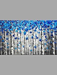 baratos -Pintados à mão Abstrato Paisagem Horizontal, Clássico Modern Tela de pintura Pintura a Óleo Decoração para casa 1 Painel