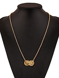 abordables -Mujer Collares con colgantes / Collares de cadena - Plateado Simple, Vintage, Moda Dorado, Plata Gargantillas Para Diario, Trabajo
