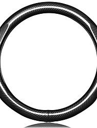 Недорогие -Чехлы на руль Настоящая кожа 38 см Черный For Volkswagen Bora / Tiguan / Passat Все года