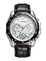 baratos -Homens Relógio de Pulso Japanês Relógio Casual Couro Legitimo Banda Casual / Fashion Preta / Marrom