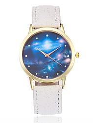 preiswerte -Damen Quartz Armbanduhr Chinesisch Armbanduhren für den Alltag Leder Band Mehrfarbig Modisch Schwarz Weiß Blau Rot Braun Rosa Rose