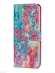 cheap -Case For Samsung Galaxy S9 S9 Plus Card Holder Wallet with Stand Flip Magnetic Pattern Flower Hard PU Leather for
