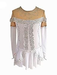 Haljina za klizanje Žene Korcsolyázás Haljine Obala Rastezljivo Početnik Profesionalac Odjeća za klizanje Šivena čipka Umjetno drago