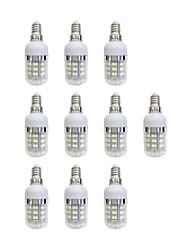 baratos -10pçs 3W 240 lm E12/E14 Lâmpadas Espiga 48 leds SMD 2835 Luz LED Branco AC 220-240V