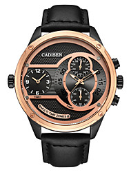 Недорогие -CADISEN Муж. Спортивные часы / Наручные часы Китайский Календарь / Секундомер / Защита от влаги Кожа Группа На каждый день / Мода Черный / Фосфоресцирующий / Sony SR920SW / Два года