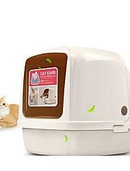 Недорогие -Коты Pet пакет Животные Корпусы Учебный Компактность Офис Однотонный В квадратный кусок Бежевый